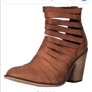Free People Hybrid Terracotta Ankle Boots  41